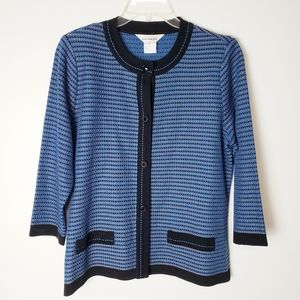 Exclusively Misook Blue Cardigan Size M